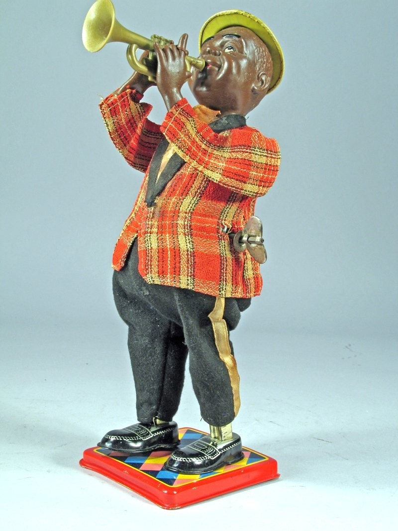 Nomura Louis Armstrong Wind Up Tin Litho