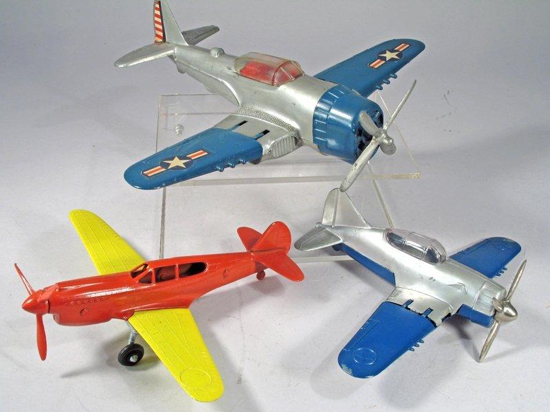 Hubley Corsair Hellcat Plane Lot - 2