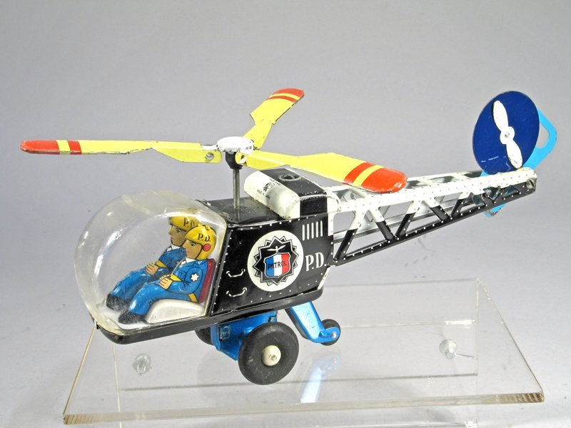 Japan Tin Litho Police Patrol Helicopter