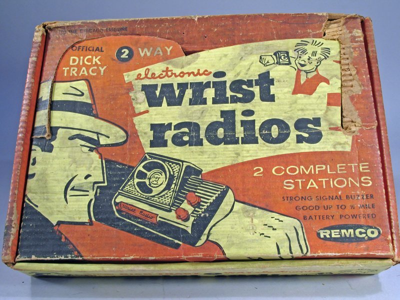 Remco Dick Tracy Wrist Radio Watches In Box