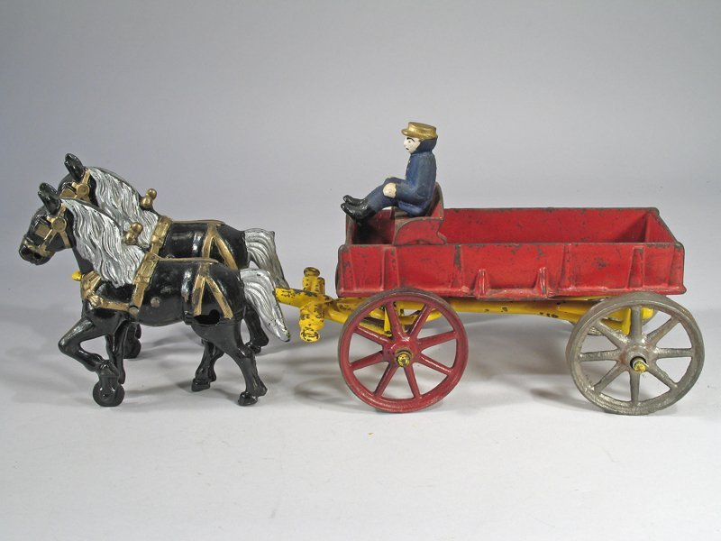Hubley Horse Drawn Cart Cast Iron