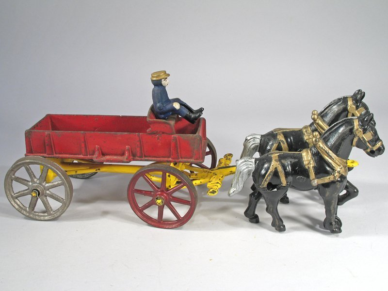 Hubley Horse Drawn Cart Cast Iron - 2
