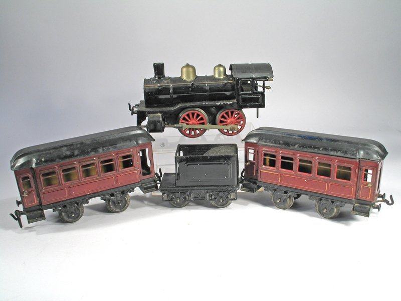 Karl Bub O Guage German Tin Litho Train Set