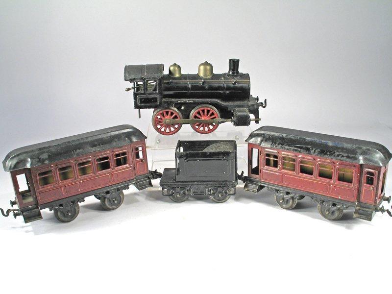 Karl Bub O Guage German Tin Litho Train Set - 2
