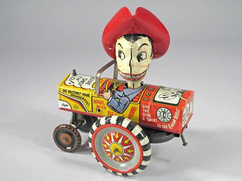 Marx Milton Berle Crazy Car Tin Litho - 3