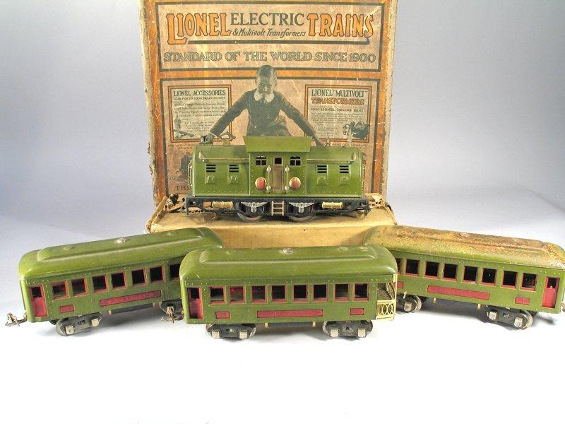 Lionel O Guage Train Set, 1920\'s In Box