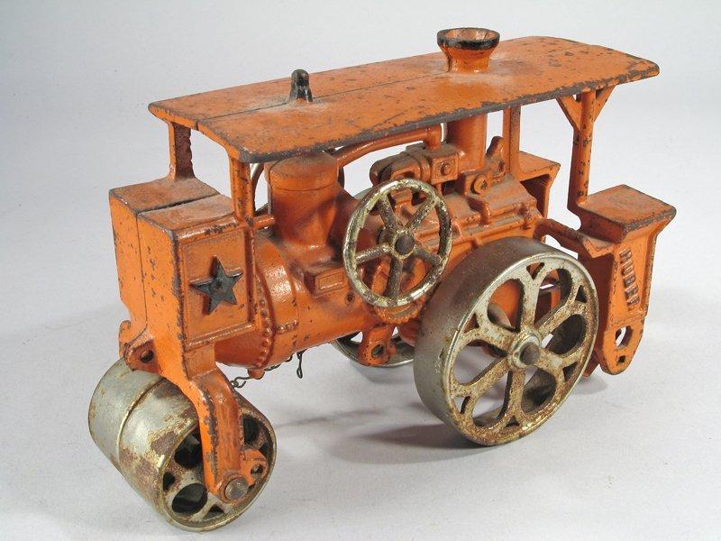 Hubley Huber Steam Roller Cast Iron Large - 3