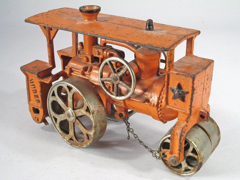 Hubley Huber Steam Roller Cast Iron Large - 4