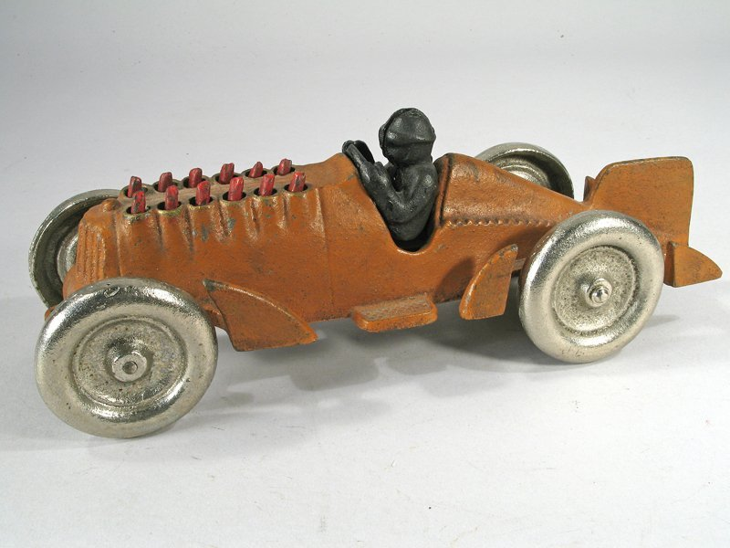 Hubley Cast Iron Piston Racer - 2