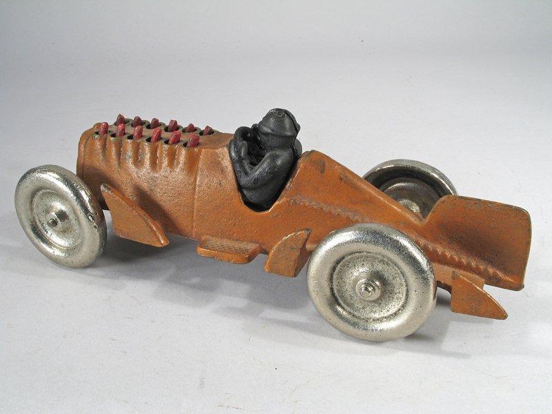 Hubley Cast Iron Piston Racer - 3