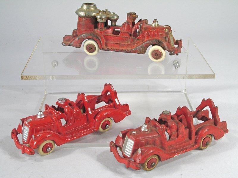 Hubley Fire Engine Lot Cast Iron