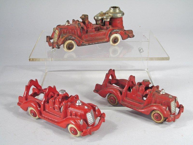 Hubley Fire Engine Lot Cast Iron - 2