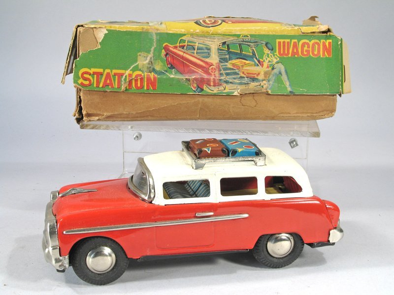 Japan Tin Ford Town And Country Station Wagon In Box