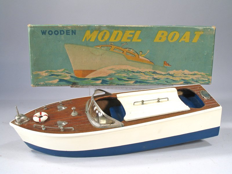 Cragston Wood Boat In Box