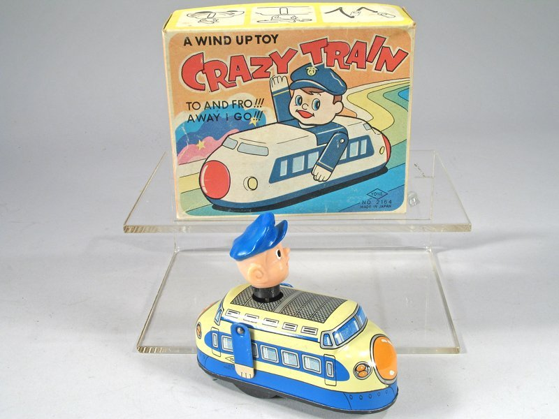 Yone Crazy Train Tin Litho in Box, Japan, wind up - 2