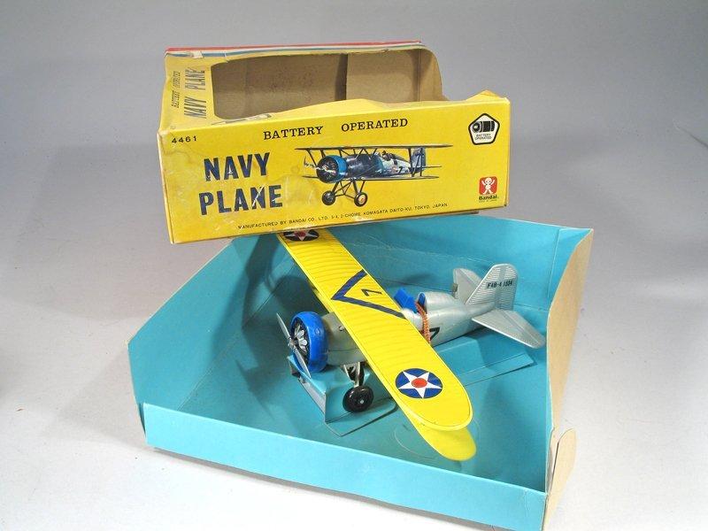 Bandai Batt Op Navy Bi Plane In Box Mint