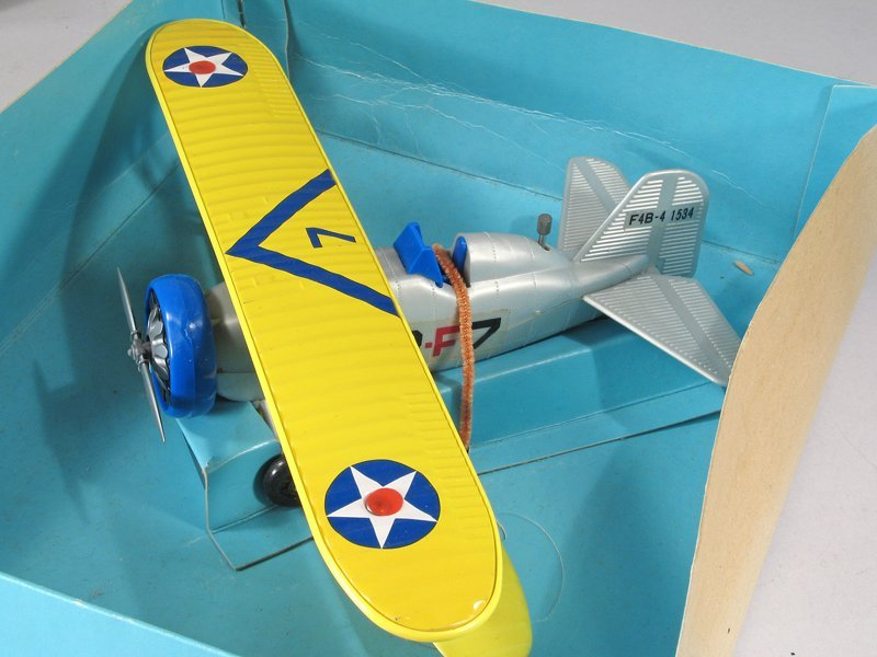 Bandai Batt Op Navy Bi Plane In Box Mint - 2