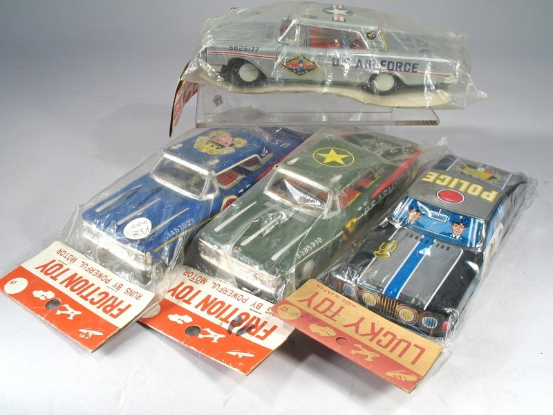 Japan Friction Car Lot Tin Litho NOS in Packages