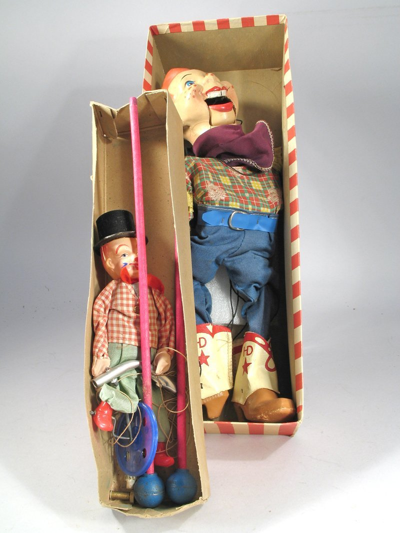 Howdy Doody Marionette Lot In Box - 2