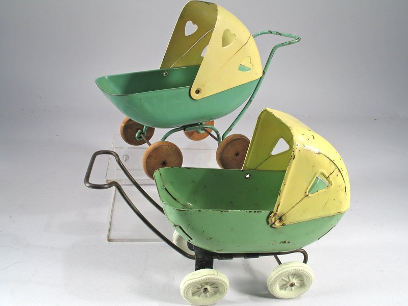 Kelmet Pressed Steel Baby Buggy Lot