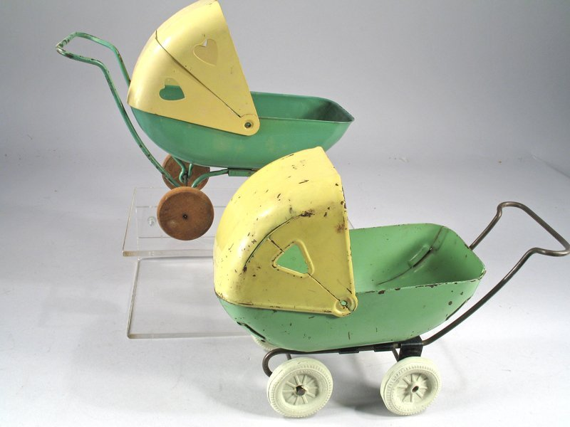 Kelmet Pressed Steel Baby Buggy Lot - 2