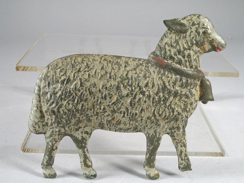 1890's Merriam Tin Sheep Toy - 2