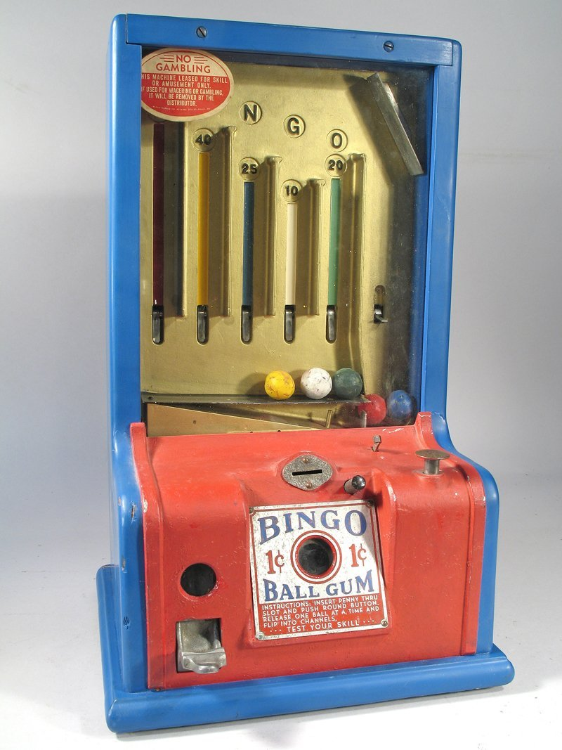 Bingo Table Top Gum Machine Trade Stimulator
