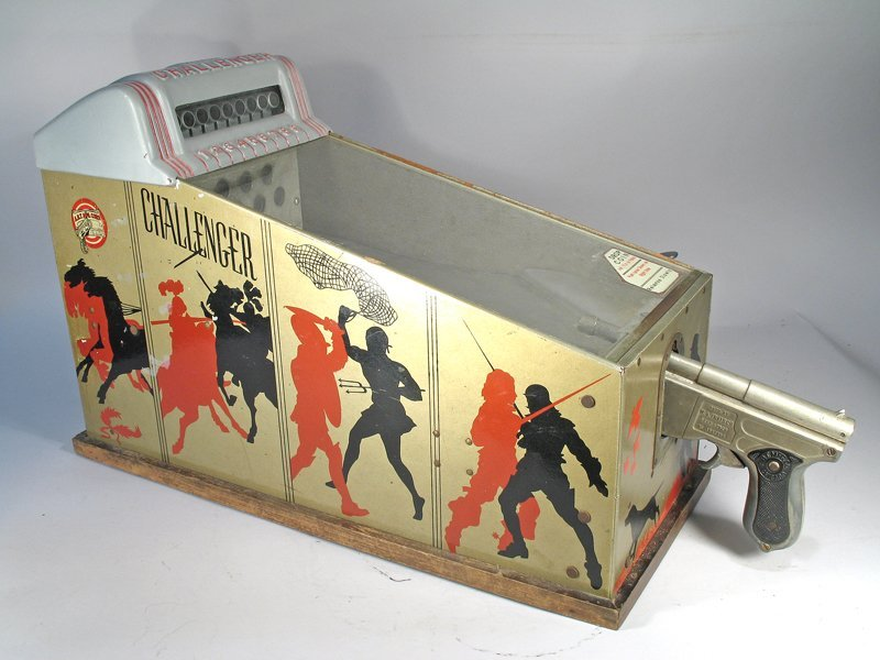 Challenger Shooting Gallery, ABT Mfg, Table Top Coin Op