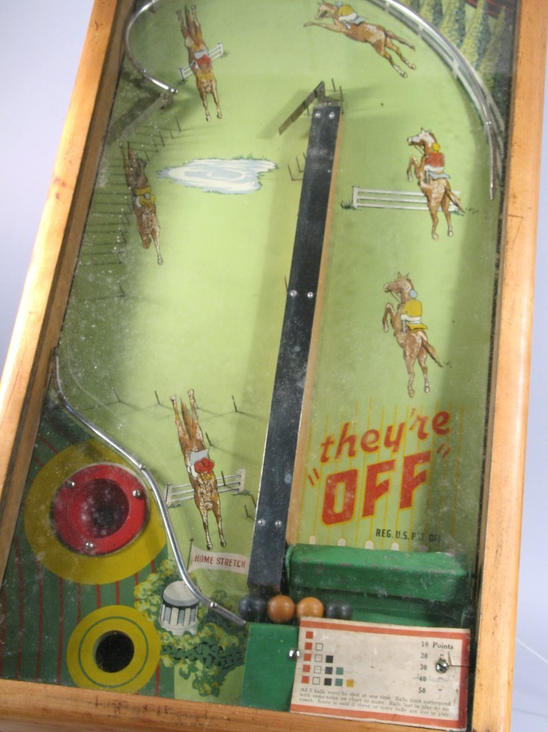 They\'re Off! Table Top Pin Ball Machine - 2