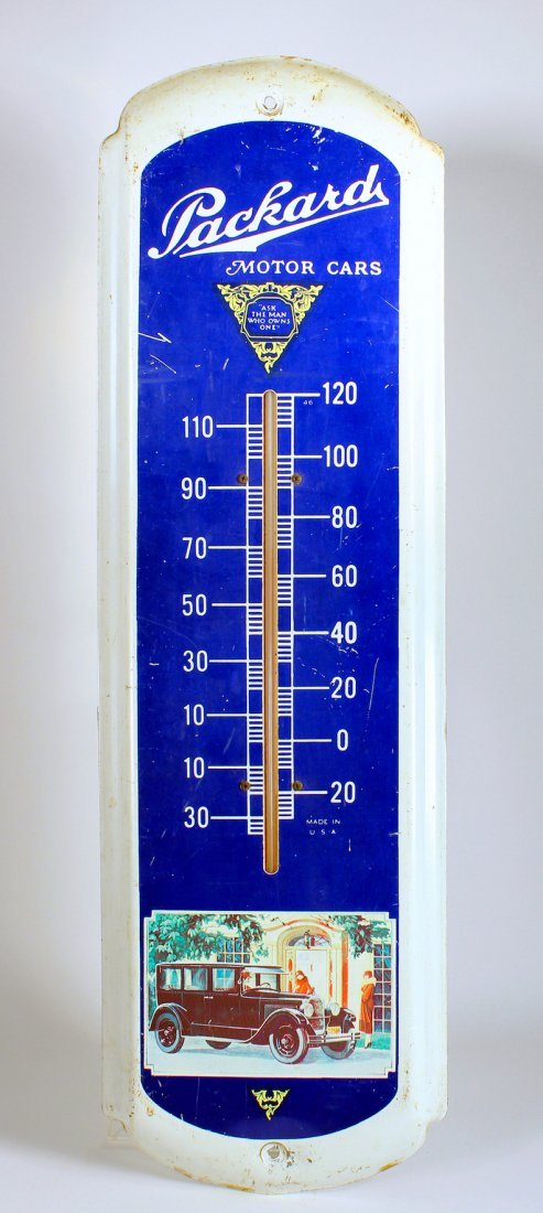 Packard Motor Cars Advertising Thermometer