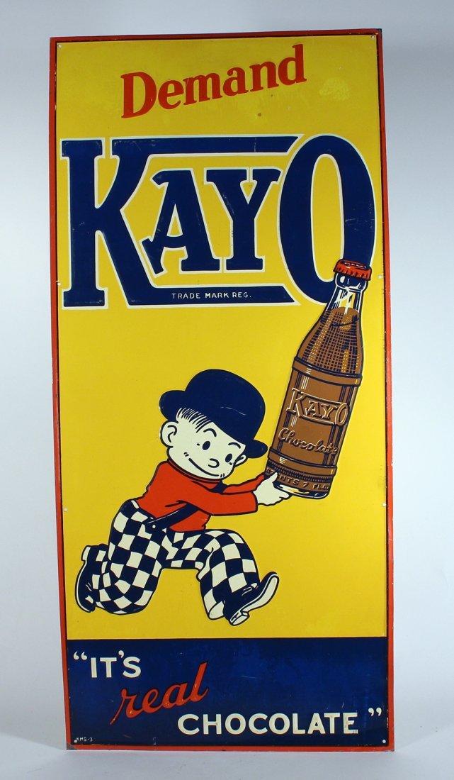 Demand Kayo Real Chocolate Drink Sign