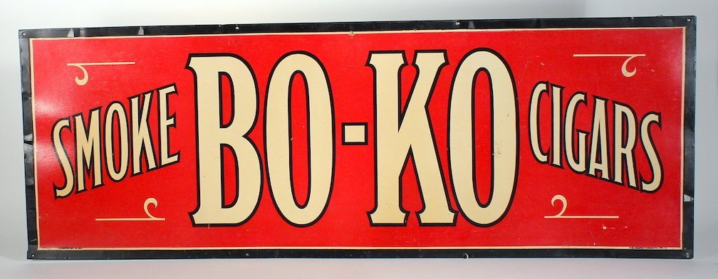 Smoke Bo-Ko  Cigars Metal Sign