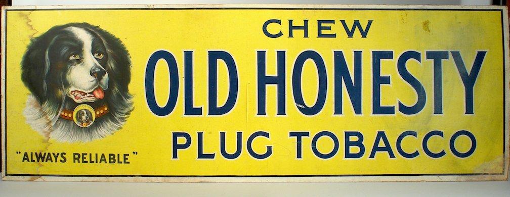 Old Honesty Plug Tobacco Sign