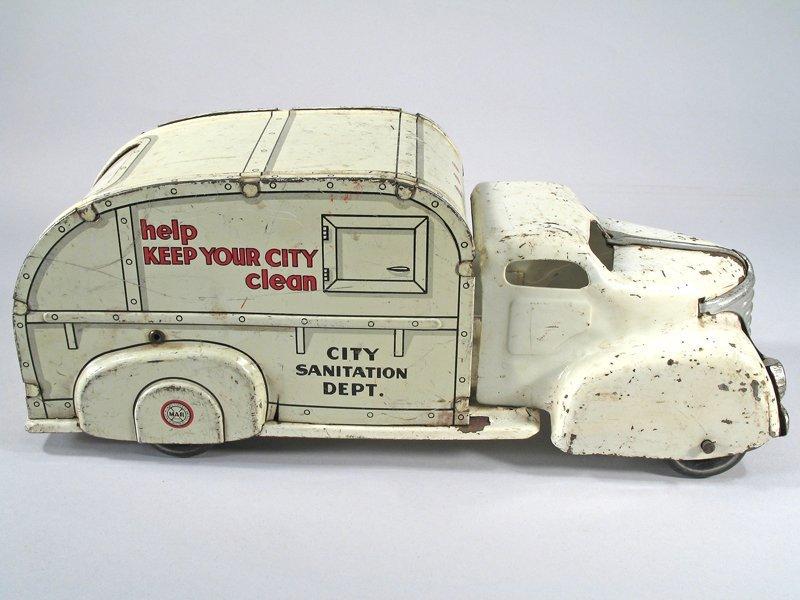 Marx Sanitation Truck Pressed Steel - 2
