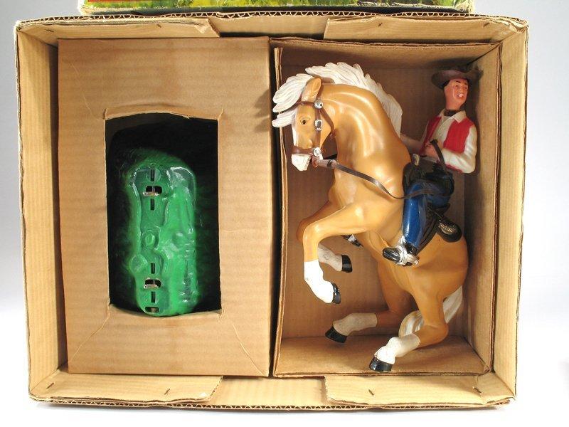 Large Marx Bucking Bronco Cowboy on Horse In Box - 3