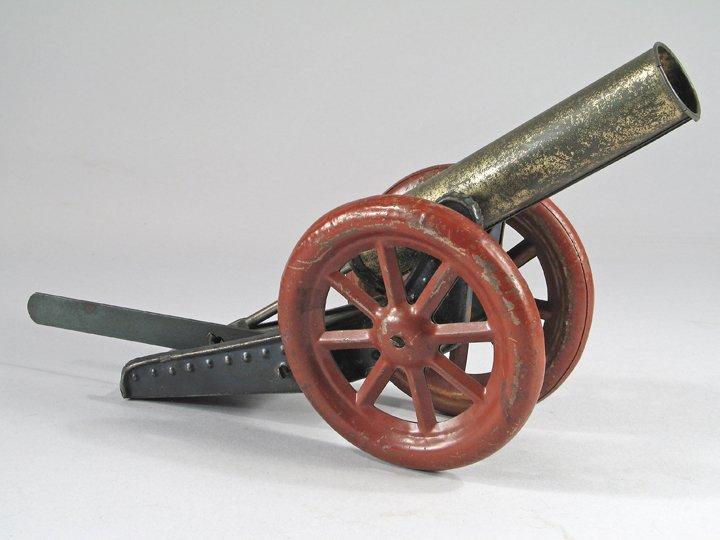 German Tin Marble Cannon 1920\'s - 2