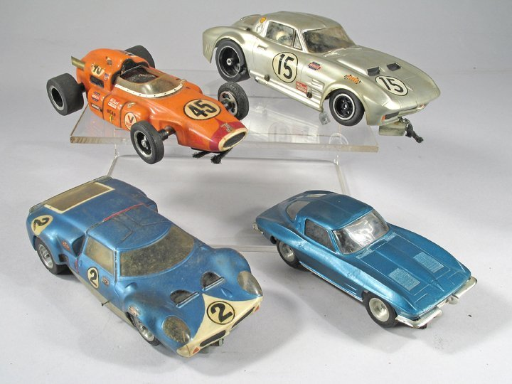 Aurora 1/25 scale Slot Car Lot Large 1960\'s