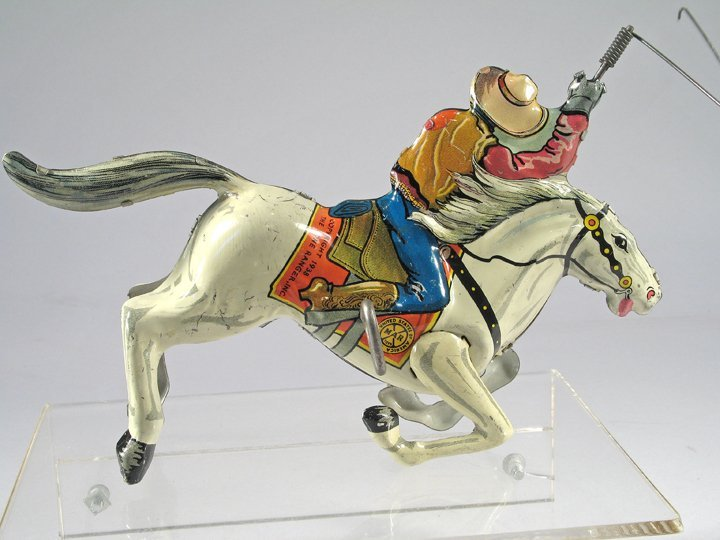Marx Lone Ranger Lasso Tin Litho - 2