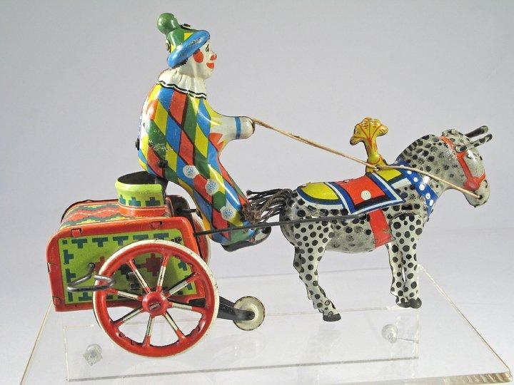 Balky Clown Tin Toy - 2