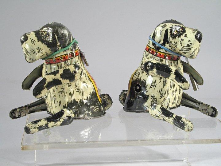 Marx Flippo Dog Tin Litho Wind Up Toy Lot