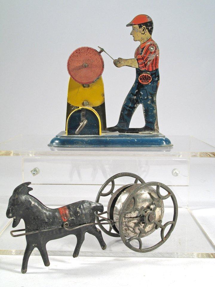 1930s Girard Tin Toy & 1890s Goat Bell Toy