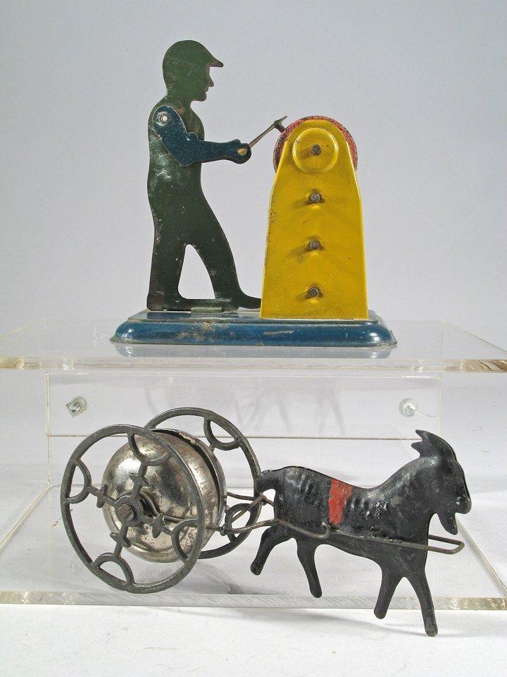 1930s Girard Tin Toy & 1890s Goat Bell Toy - 2