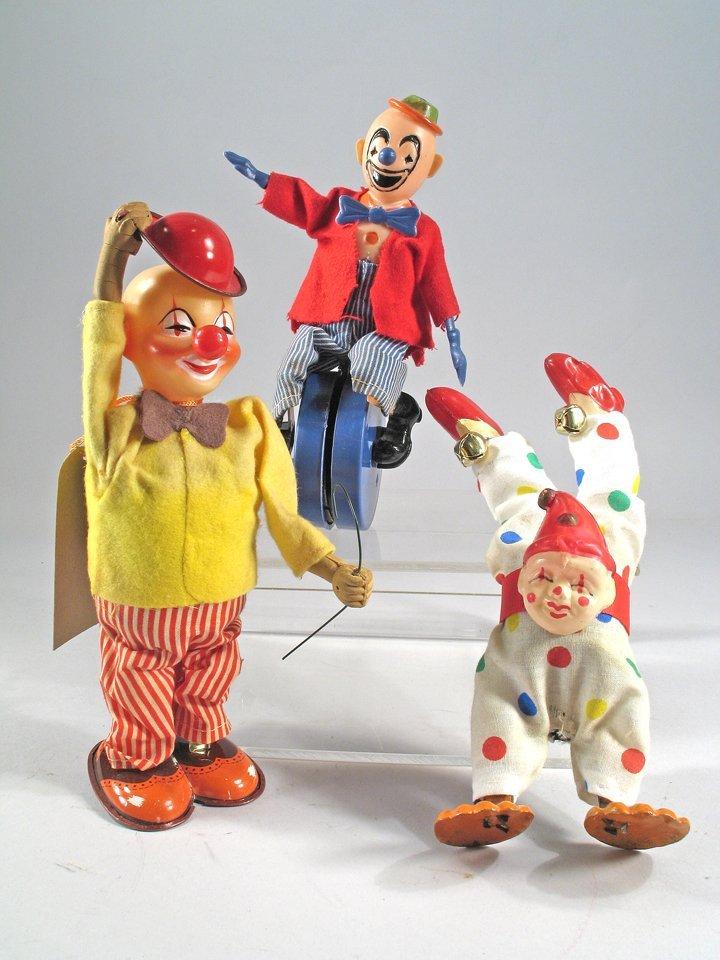 Japan Wind Up Friction Clown Lot