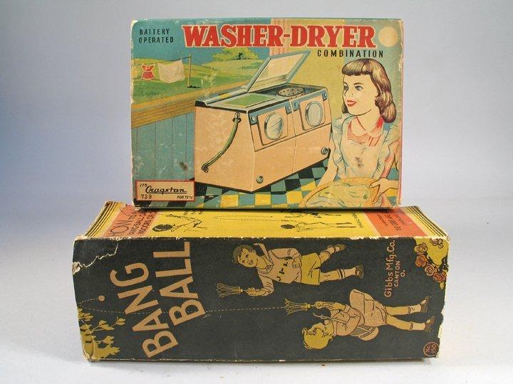 Cragston Tin Washer Dryer In Box & Gibbs Bang Ball Boxe