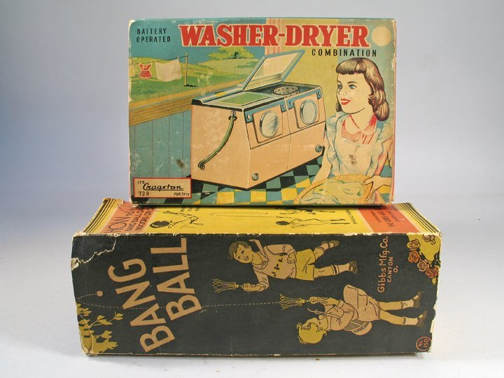 Cragston Tin Washer Dryer In Box & Gibbs Bang Ball Boxe