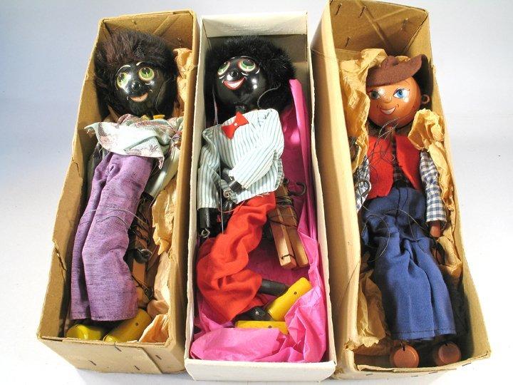 Pelham Golliwog Puppet Lot 1940's England in Boxes - 2