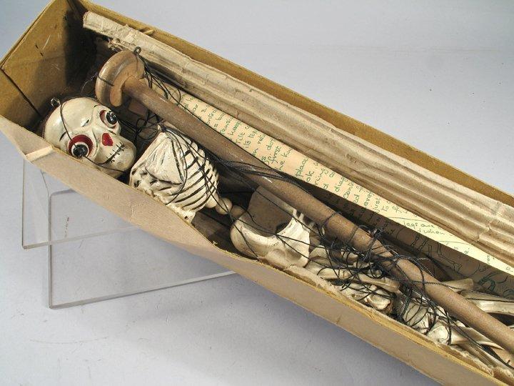 Pelham Skeleton Halloween Puppet Rare In Box