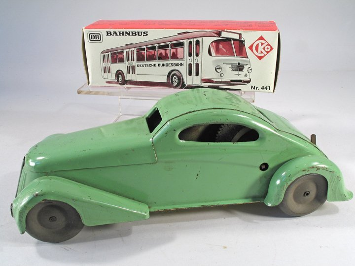 1930s Pressed Steel Coupe and Kellermann Bus in Box