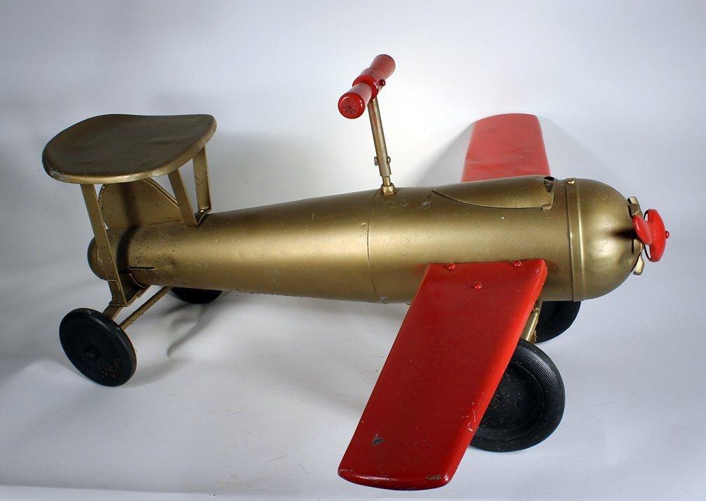Keystone Pressed Steel Ride Em Airplane
