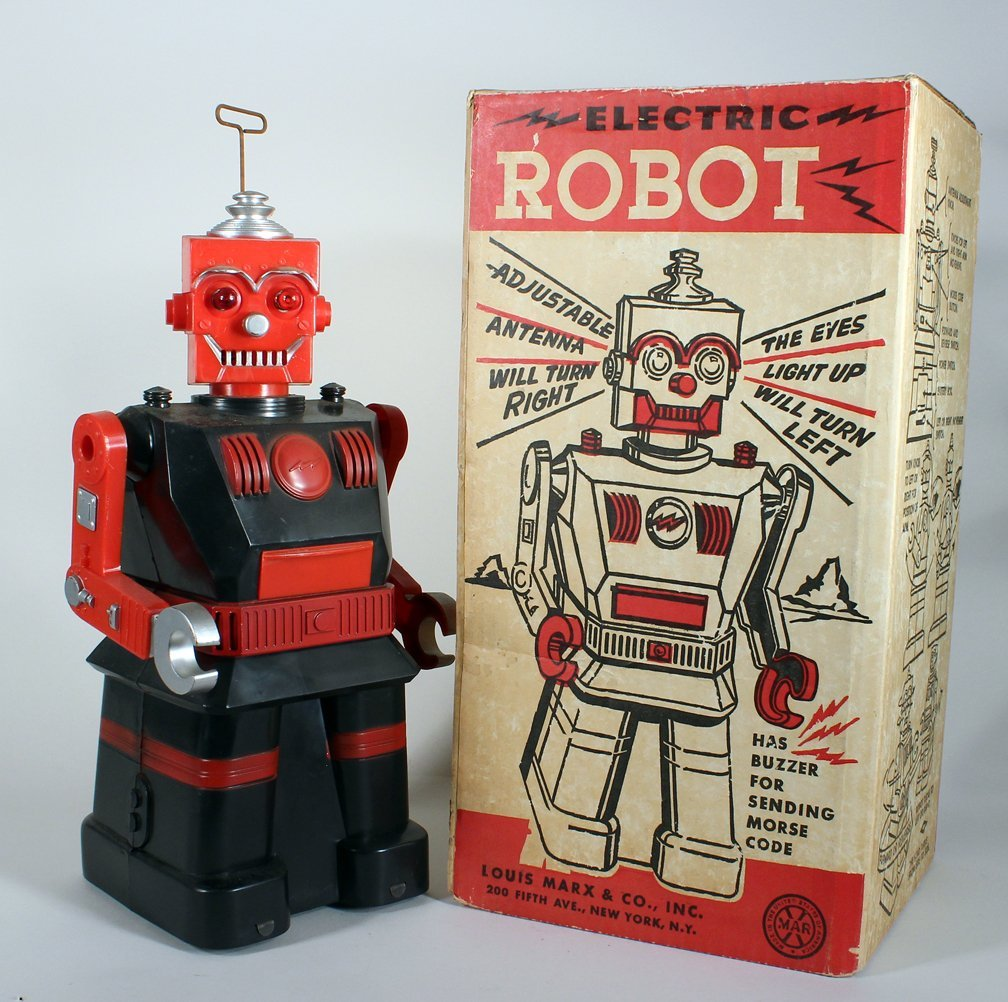 Louis Marx Electric Robot In Box